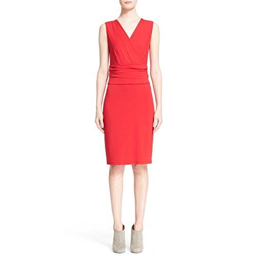 Max Mara Women's Lusso Jersey Sheath Dress 8 Red
