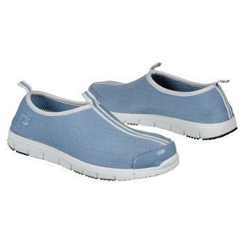 - Propet Womens Travel Walker Slip-On in Pwdr Blue Stretch Mesh Size 6 E US