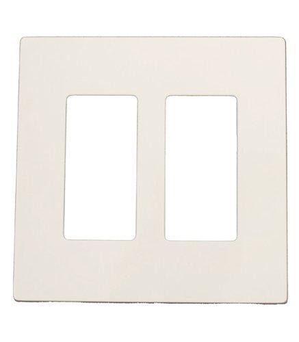 Leviton SJ262-SW 2-Gang Decora Screwless midway wallplate, White Screwless Faceplate