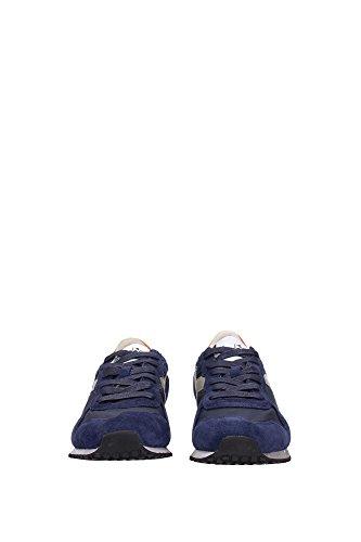 Diadora Heritage (157083-c6203) para HOMBRE zapatillas de piel, color azul/verde-salvia (40)