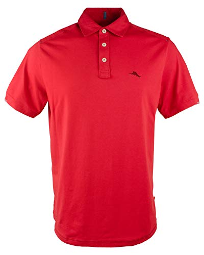 Tommy Bahama Men's Tropicool Spectator IslandZone Polo Shirt-RR-S Regal Red (Tommy Bahama Polo)