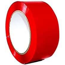 T.R.U. OPP-20C Red Carton Sealing Packaging Tape 2 in. wide x 110 yds. (2 mils thick)