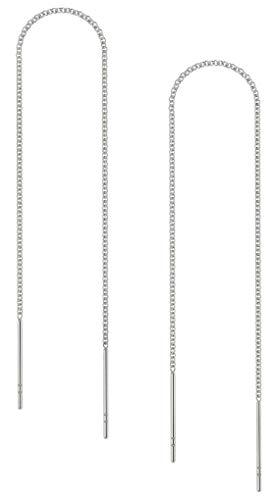 Benevolence LA Threader Earrings Chain 14k Gold (White Gold)