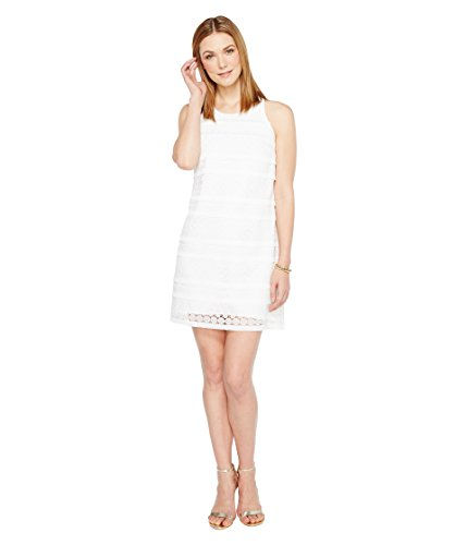 Lilly Pulitzer Women's Anette Shift, Resort White Bubble Fringe Lace, 6 (Pulitzer Lilly Wedding)