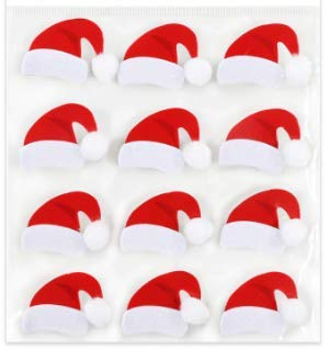 3D Christmas Santa Hat Stickers - 12 ()