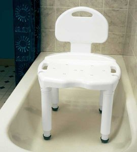 Carex Universal Bath Seat Bench with Back Carex Universal Bath Bench