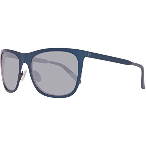 Guess GU 6881 91C 58mm Matte Blue / Smoke Mirror - Prescription Guess Sunglasses