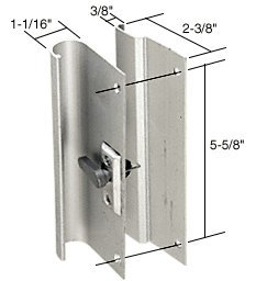 CRL Aluminum Mortise Style Sliding Glass Door Handle 5 5/8u0026quot; Screw