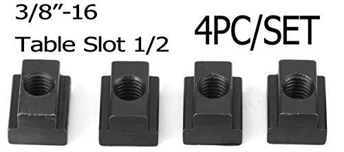 7//16 Inch T-Slot Nut 3//8-16 Thread Qty of 6