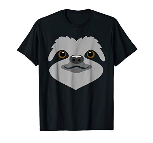 (Sloth Shirt Cute Sloth Face Halloween Costume T-Shirt)