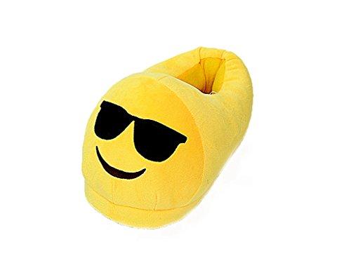 Dessins Animés Pantoufle En Peluche Émotion, Hiver Maison Chaussures Chaudes Glissement Unisexe (lunettes De Soleil)