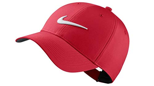 (NIKE Legacy 91 Performance Golf Cap Adjustable Red/White)