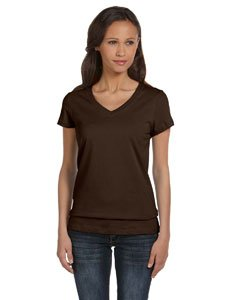Jersey V-Neck T-Shirt, Color: Chocolate, Size: Medium (Banana Fitted Jersey T-shirt)