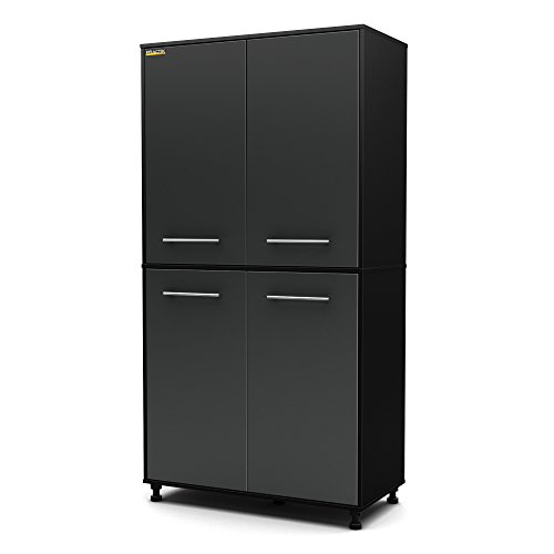 South Shore Karbon Collection Storage Cabinet, Pure Black/ Charcoal by South Shore