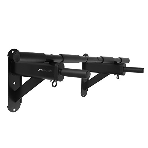 "Fitleader FC3 Wall Mounted to 24"" on center Stud Upper Body Heavy Duty Pull Up Chin Up Bar Black"