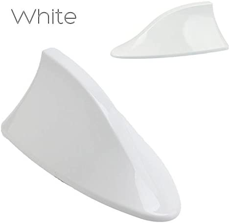Shark Fin Antenna Aerial Universal Car Signal Reception White Roof AM//FM Radio