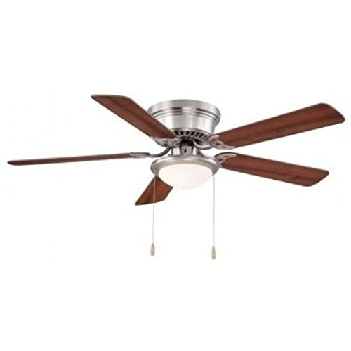 Hampton Bay Hugger 52 In. Brushed Nickel Ceiling Fan By Hampton Bay