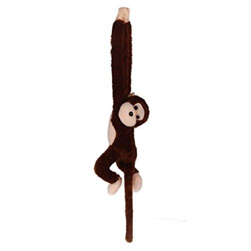 Lookatool Cute Screech Monkey Plush Toy Doll Doll Gibbons Kids Gift (Coffee)