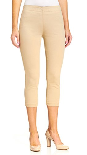 Miraclebody Jeans Women's Louise Pull-On Cropped Jegging Cashew Pants 6 X 22