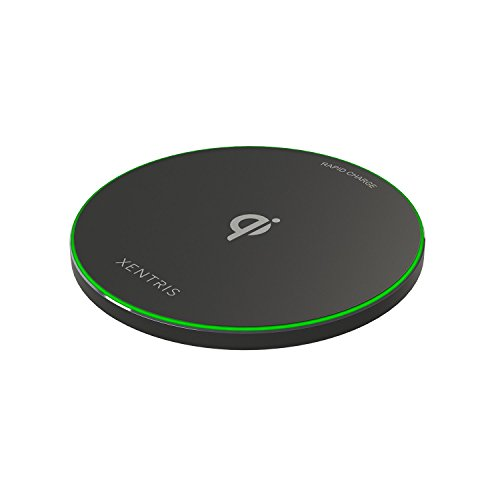 Xentris Wireless 10W Qi Rapid Charge Wireless Charging Pad/ Apple iPhone 8, 8+,iPhone X and compatible Android devices.  Comes with smart LED charging notification.  - Black 60-4430-05-XP (Phone Xentris Charger)