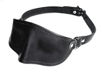 Dungeonware 100% Leather Molded Blindfold w/ Buckled Strap by Dungeonware