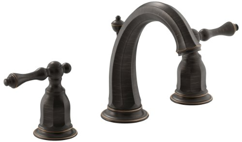 KOHLER Kelston K-13491-4-2BZ 2-Handle Widespread Bathroom Faucet with Metal Drain Assembly in Oil-Rubbed Bronze