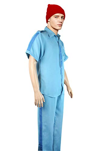 Life Aquatic with Steve Zissou Costume Halloween Uniform (Medium) Blue - coolthings.us
