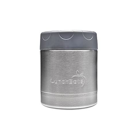 LunchBots Thermal 8 oz. All Stainless Steel Interior - Insulated Food Container Stays Warm for 6 Hours or Cold for 12 Hours - Leak Proof Soup Jar for Portable Convenience - (Stainless King Ounce Food Jar)