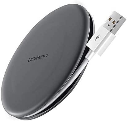 UGREEN Cargador Inalámbrico Rápido,10W Cargador Wireless Cable Organiser para Samsung S10,S9,S8,Note 10,Note 9, 7.5W para iPhone11,Pro MAX,XS ...