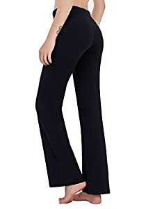 Matymats Women's High Waist Yoga Flare Bootleg Pant Workout Fitted Athletic Bootcut Pants