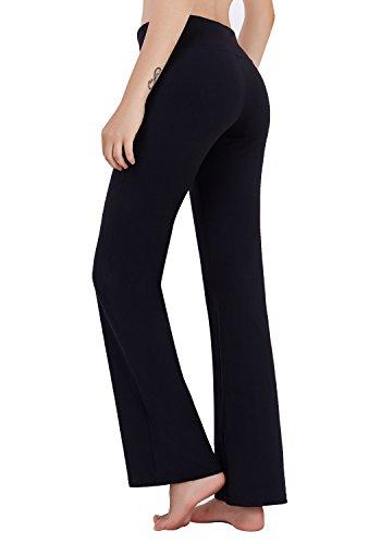 784b7f5954335 Matymats Women's High Waist Yoga Flare Bootleg Pant Workout Fitted ...