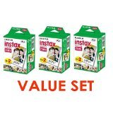 Fujifilm Instax Mini Instant Film (3 Twin Packs, 60 Total Pictures)
