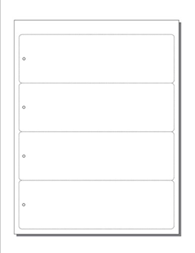 "Print-Ready Bookmarks, 2-1/2"" x 8"" w Hole, 4-UP Perfed for Separation on White 8-1/2"" x 11"" 65lb Astrobright Cover Paper - 250 Sheets / 1,000 Bookmarks"