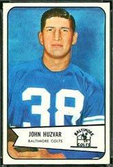 1954 Bowman Regular (Football) Card# 2 John Huzvar of the Baltimore Colts VGX Condition ()