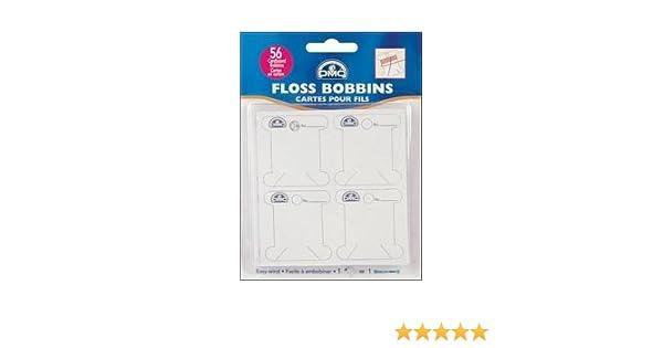 DMC Cardboard Floss Bobbins 56//Pkg 6101 6-Pack Bulk Buy