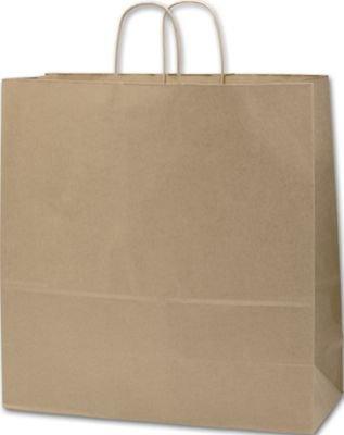 Color sólido patrón papel Kraft reciclado bolsa de la compra ...