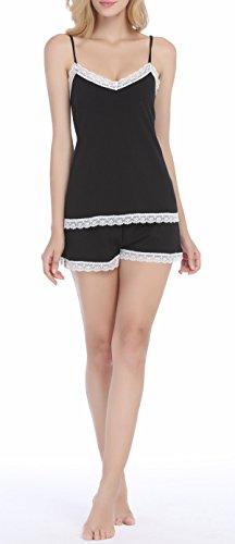 Vansiter-Womens-Sexy-Sleeveless-Pajamas-Set-Lace-Camisole-Sleepwear-S-2XL
