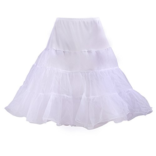 HDE Women's Plus Size Petticoat Vintage Swing Dress Underskirt Tutu Skirt