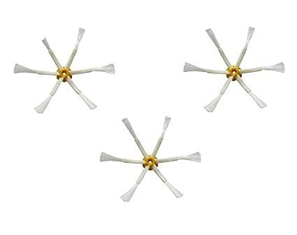 Pack 3 cepillos laterales de 6 aspas, cepillo Roomba 500, cepillo Romba 600,