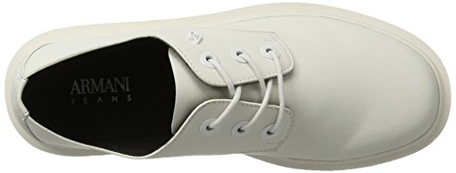 Armani Jeans Dames 9251627p554 Lace Up Brogues S Witte (bianco)