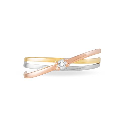 HISTOIRE D'OR - Bague Or et Diamant - Femme - Or 3 couleurs 375/1000