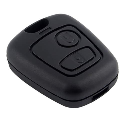 Detectoy Replacement Remote Key Shell Cover Fit For PEUGEOT CITROEN C1 C2 C3 Pluriel C4 C5 PEUGEOT Fob 2 BTN Case