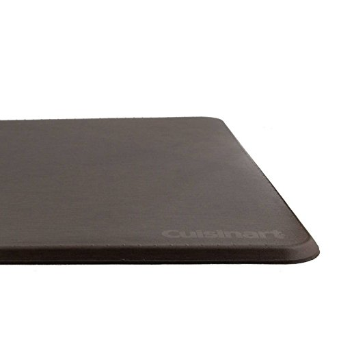 """Cuisinart Solid Textured Chef Mat, Anti-Fatigue Non-Slip Pure Comfort Mat- Chocolate- 20""""x41"""", Ergonomic, Helps to eliminate pressure from ()"""