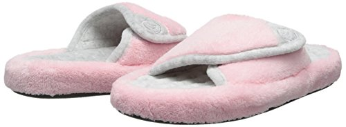 Isotoner Women's Microterry Spa Slide Slippers Petal Pink XbiIva
