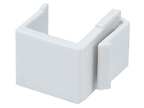 - Monoprice Blank Insert For Wall Plate - 10pcs/Pack (White)