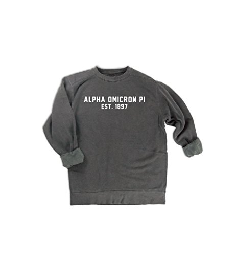 Comfort Colors Alpha Omicron Pi EST. 1897 Sweatshirt | Sorority Sweatshirt (X Large)