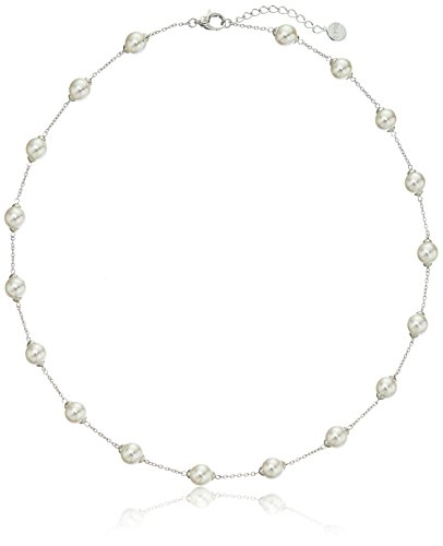 Majorica  Simulated Pearl (8 mm) Station Necklace,…