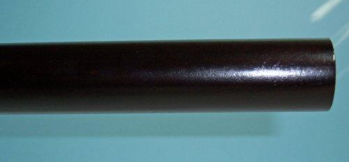 8' Smooth Wood Rod - 1-3/8 inch Wood Smooth Drapery Rod in Dark Chocolate Finish - 8' long