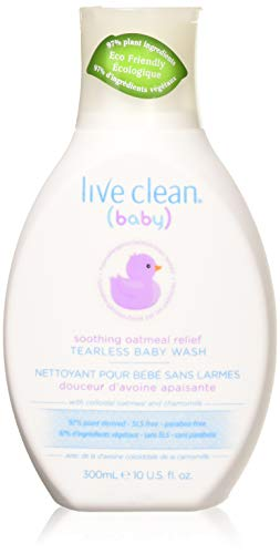 Live Clean Baby Soothing Relief Baby Wash, 10 oz