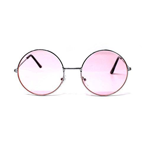 Rose Style de Femmes Lunettes Vintage Unisexe Qualité UV400 Adultes Elton John Rétro Soleil Hommes Ultra Classique Lennon Ronde qtYTxE6